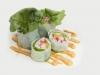 Sushi Summer Roll - Novodobá rolka z rýžového papíru s čerstvou zeleninou, kaviárem Tobiko a dresinkem