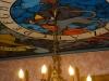 stropní malba Jana Krystoforiho v cukrárně Alchymista