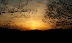 Západ slunce nad Karlovicemi