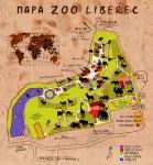 Malovaný plánek ZOO Liberec