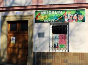 Muzeum čtyřlístku, vstup do muzea v Doksech