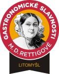 Logo gastronomického festivalu v Litomyšli Gastronomické slavnosti Magdaleny Dobromily Rettigové