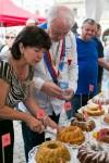 Hodnocení poroty při soutěži o nejlepší bábovku na  Gastronomických slavnostech Magdaleny Dobromily Rettigové