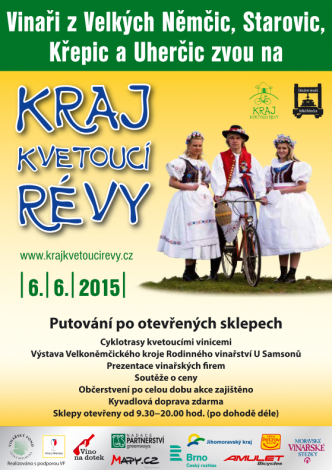 Plakát k akci Cyklistické putování krajem kvetoucí révy