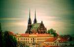 Na obrázku historické centrum města Brna k článku o zábavné hře Cryptomania trail - Bitva o Brno