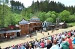 westernové představení pro děti v areálu Šiklův mlýn