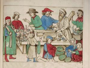 kresba z dob mistra Jana Husa k výstavě gastronomie v dobách Husa v muzeu gastronomie