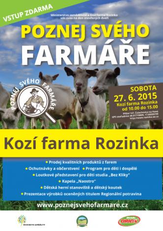 pozvánka na akci poznej svého farmáře na kozí farmu Rozinka na Hané
