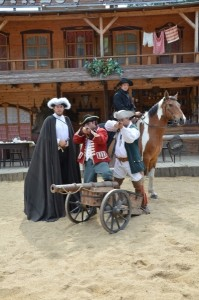 westernová show v arealu Šiklův mlýn