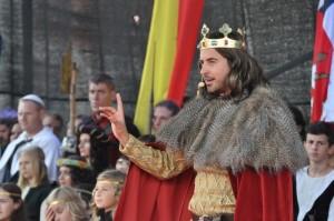 Fotografie krále  Znojemského vinobraní v historickém kostýmu