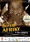 Plakát na festival Doteky Afriky