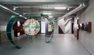 centrum Eden, ekologické rodinné centrum  na obrázku hala centra