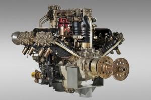 Letecký motor vystavený v muzeu škoda v Mladé Boleslavi