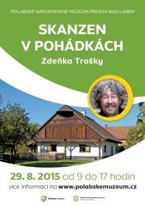 obrázek s upoutávkou na akci v Polabském muzeu zvoucí na skanzen z pohádek Zdeňka Trošky