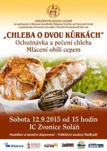 plakátek zvoucí na akci pečení chleba