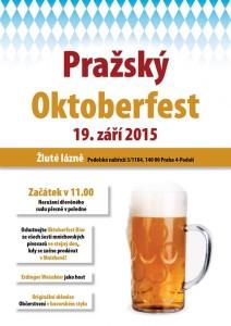 plakátek s upoutávkou na akci Pražský Oktoberfest