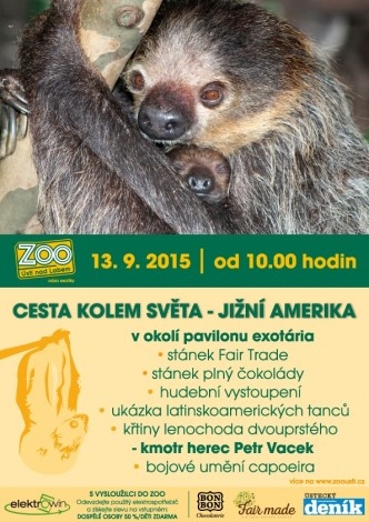 Pozvánka na akci cesta kolem asvěta v zoologické zahradě Ústí nad Labem