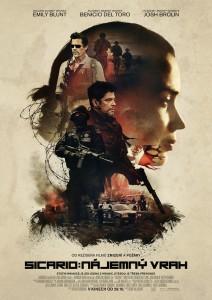 plakát s upoutávkou na film Sicario: nájemný vrah
