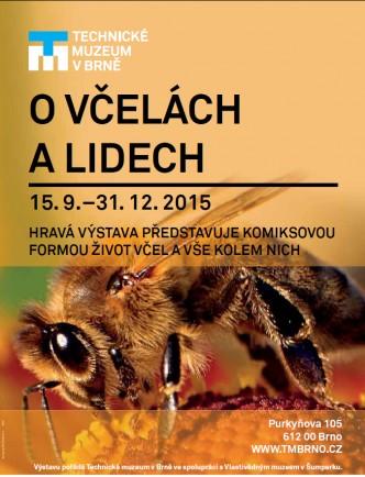 plakátek s pozvánkou na výstavu o včelách a lidech
