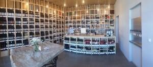 interiér vinotéky Moravská banmka vín v pražské Holešovické tržnici