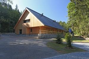 Budova návštěvnického centra Srní na Šumavě