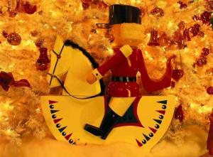 postavička vojáka na koni - zboží na vánočních trzích