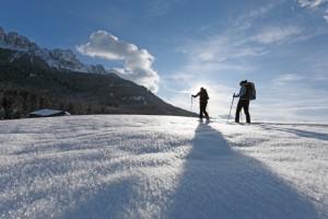 Lyžaři v Tyrolských horách