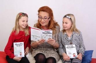 Simona Stašová, patronka knižní série o Manolitovi
