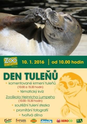 Plakát zvoucí na den tuleňů v ZOO Ústí nad Labem