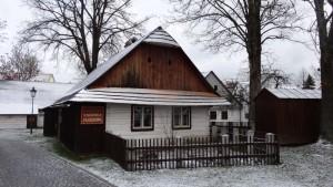 Roubené domky v památkové rezervaci Betlém v Hlinsku