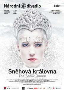 Plakát zvoucí do státní opery na balet Sněhová královna