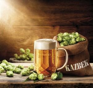 půllitr piva Krušovice Kazhek