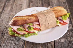 sandwich se šunkou