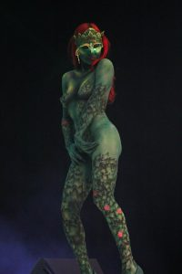 Veletrh kosmetiky interbeauty prague-modelka bodypaiting