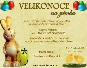 pozvánka na výlet o Velikonocích na Zámek
