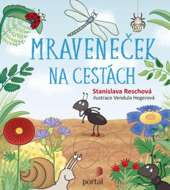Knižní tip pro děti, obal ilustrované knihy pro děti-mraveneček na cestách