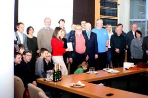 Autor s přáteli a kolegy